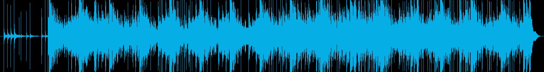 三味線と和太鼓等のリズムアンサンブル。の再生済みの波形