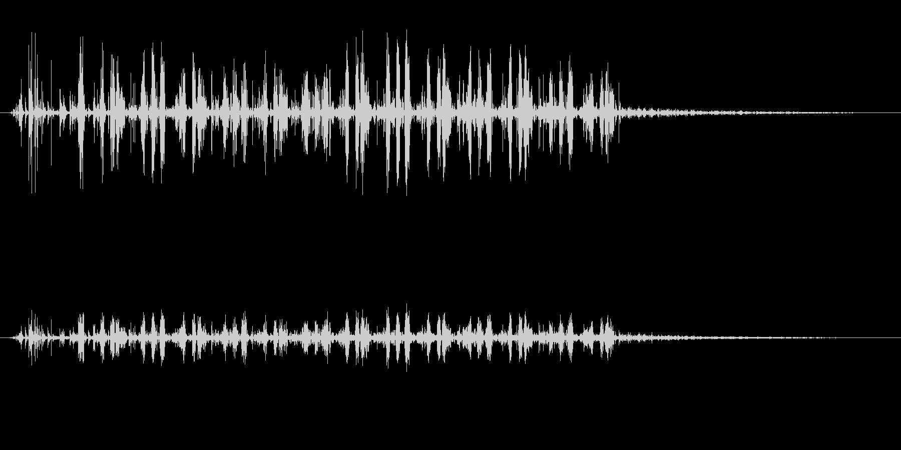 ノイズ 砕いた偽のサンダー03の未再生の波形