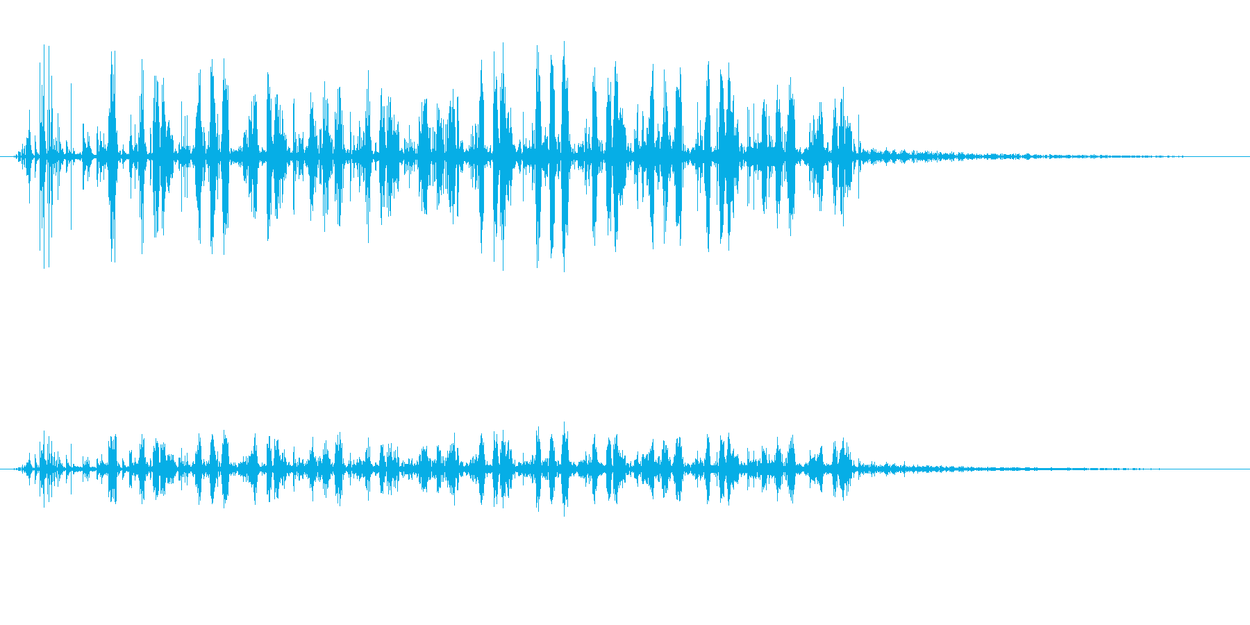 ノイズ 砕いた偽のサンダー03の再生済みの波形