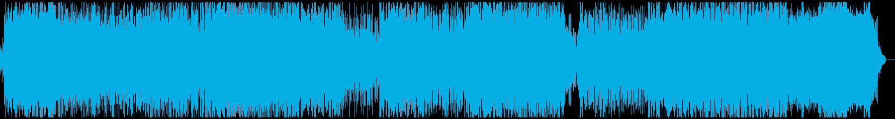 パワフルでハッピーなポップスの再生済みの波形