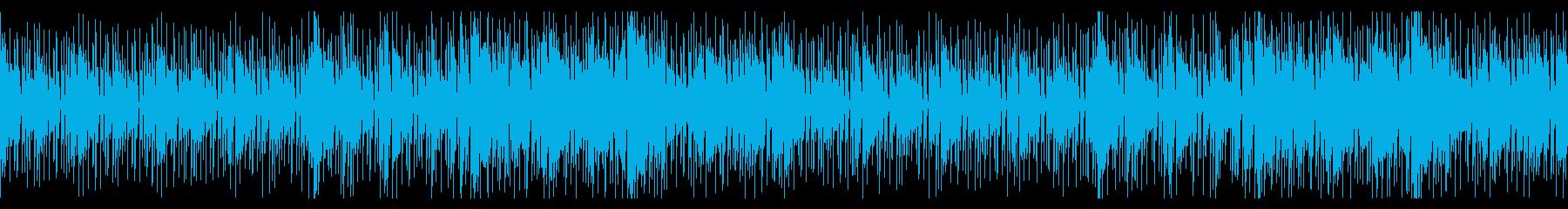 夏の浜辺を感じるボサノバループ曲の再生済みの波形
