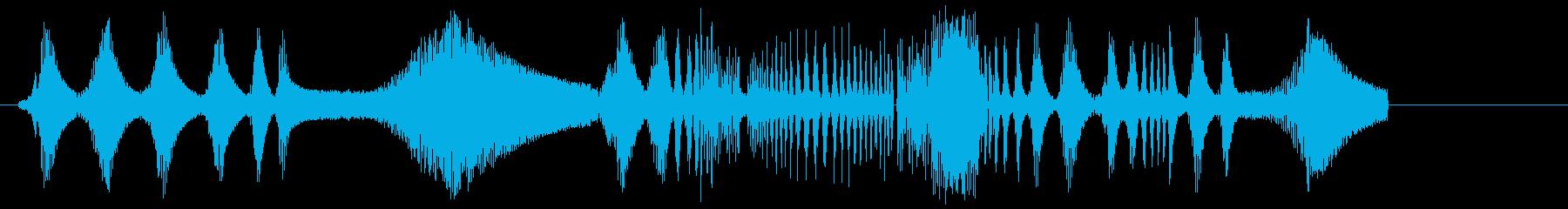 KYMAスキャナーの再生済みの波形