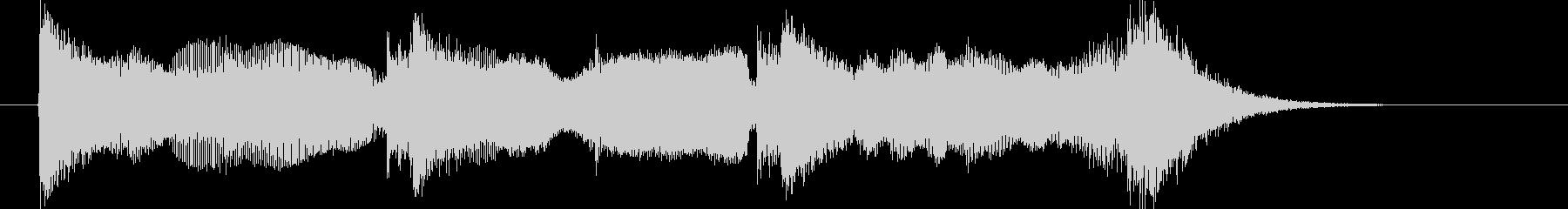 アクセントの強い輝きBGMの未再生の波形
