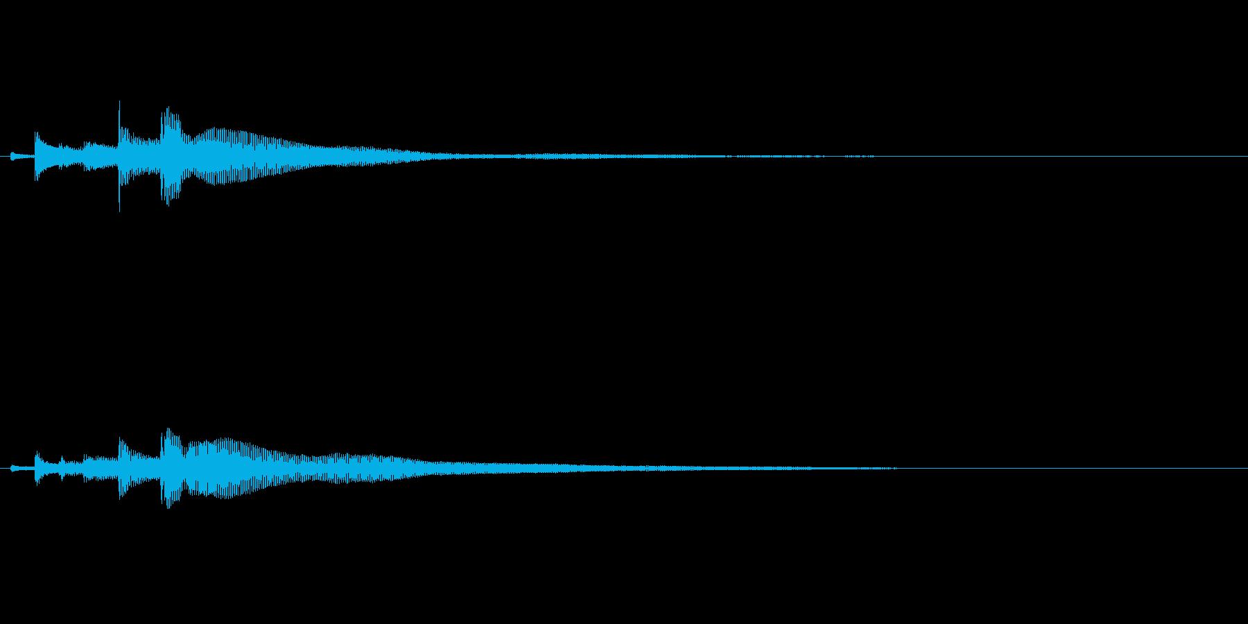 ポロロロン(ハープの高めグリス↓)の再生済みの波形