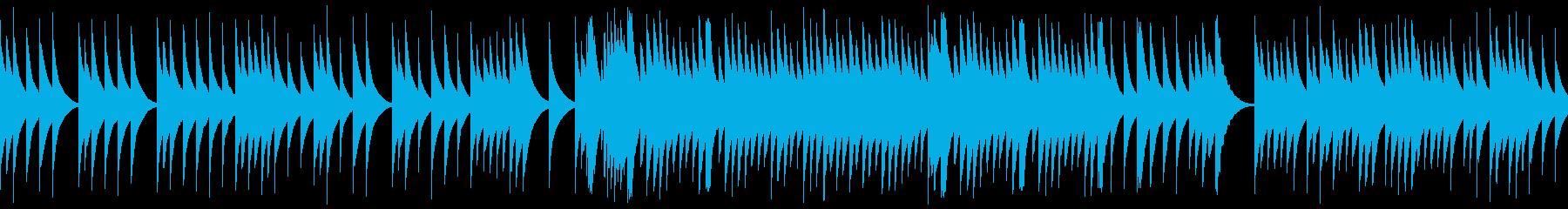 ジブリのようなオルゴール(チェレスタ)の再生済みの波形