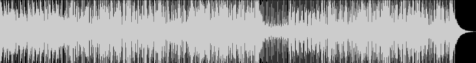 愉快でファンキーなレゲエトラックの未再生の波形