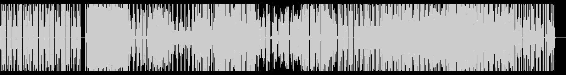 シンプルなテクノBGMの未再生の波形