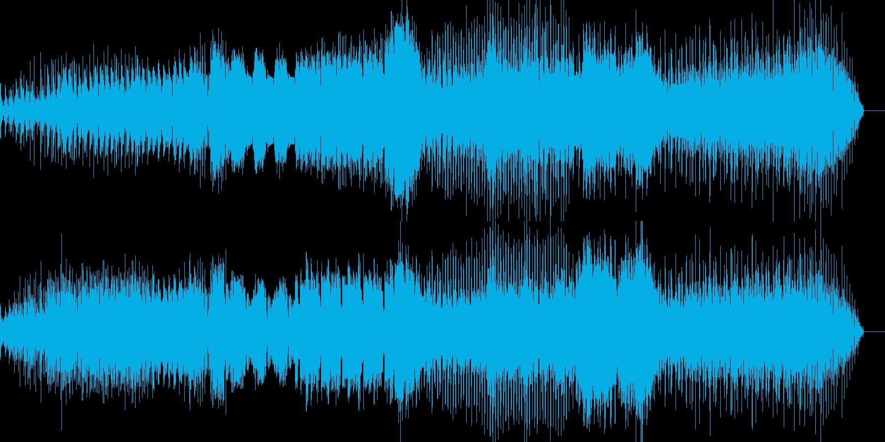 エスニック風の背景的音楽の再生済みの波形