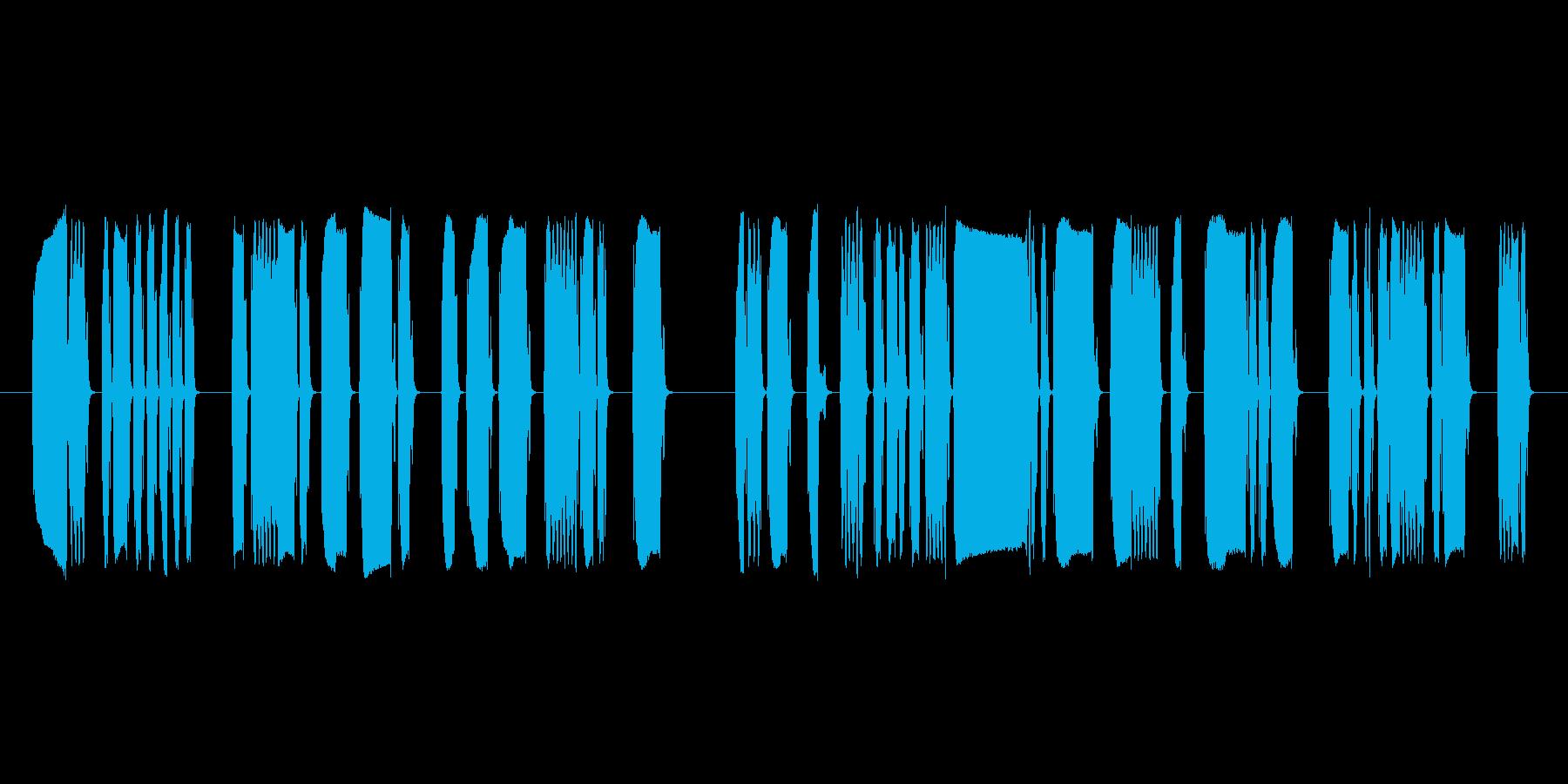 コメディシンセキュートロボットの再生済みの波形