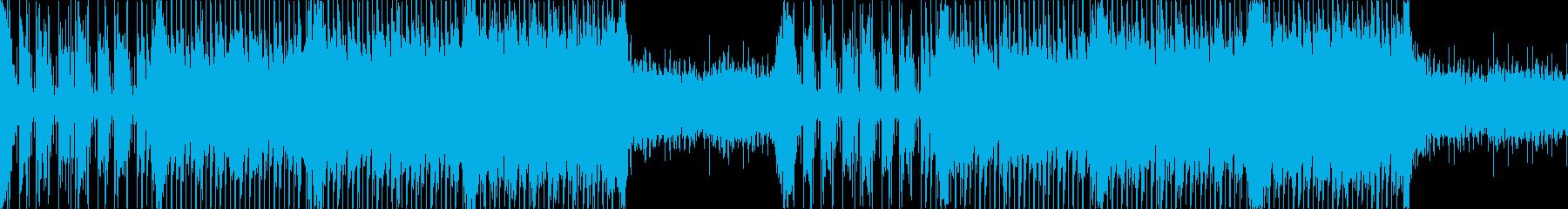 【ループ】エレクトロ、近未来、BGMの再生済みの波形