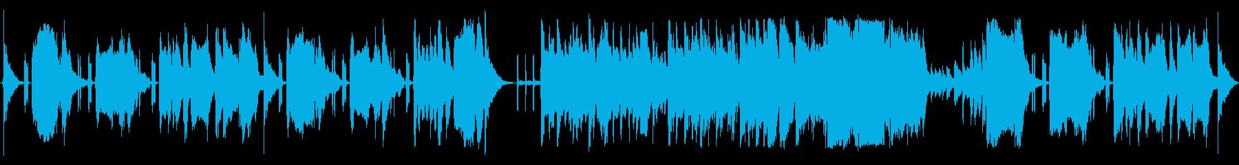 変なテンションのコメディ曲の再生済みの波形