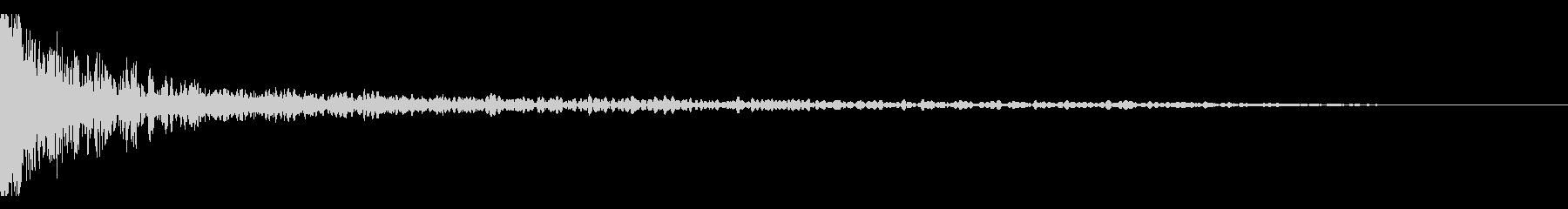 メタルヒット、ミディアム、リングの未再生の波形