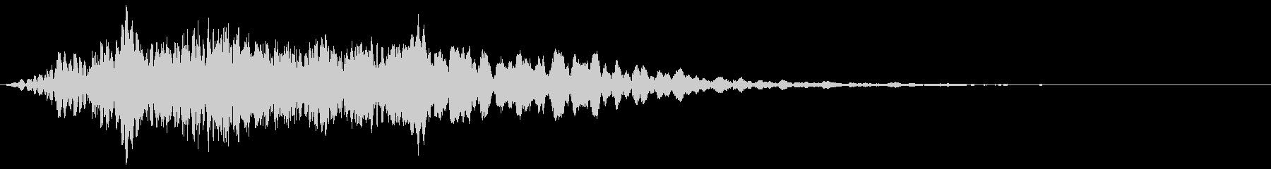 ハシブトガラスの鳴き声の未再生の波形