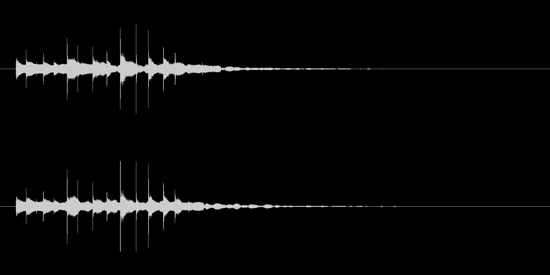 素材 グロッケンシュピールスパーク...の未再生の波形