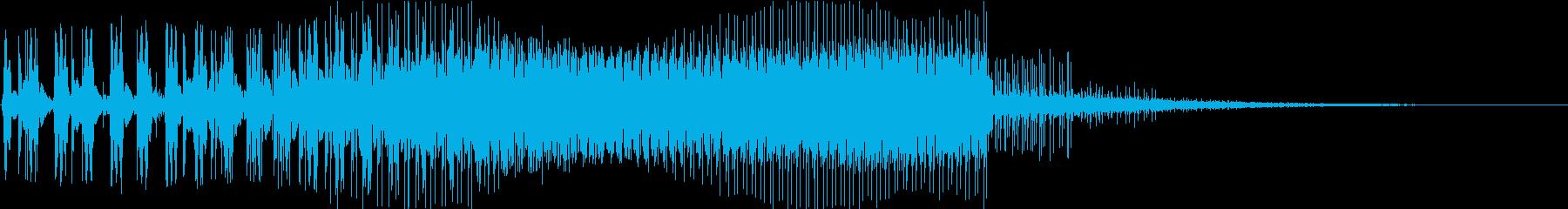 シンセエンジン音の再生済みの波形