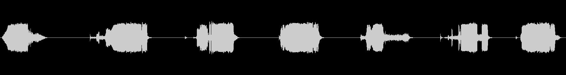 フェルトチップマーカー:ロングストロークの未再生の波形