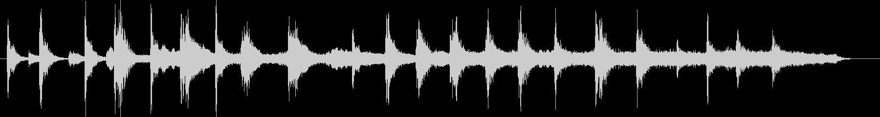 不気味かつ緊迫した場面のストリングス小曲の未再生の波形