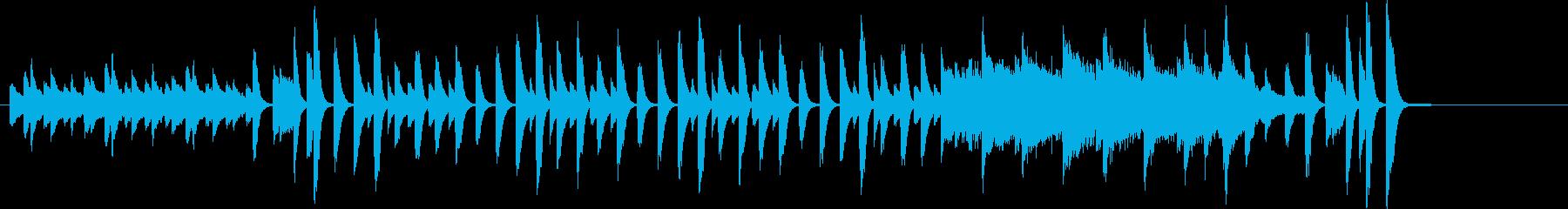 明るく楽しいが切なさあるピアノソロハーフの再生済みの波形