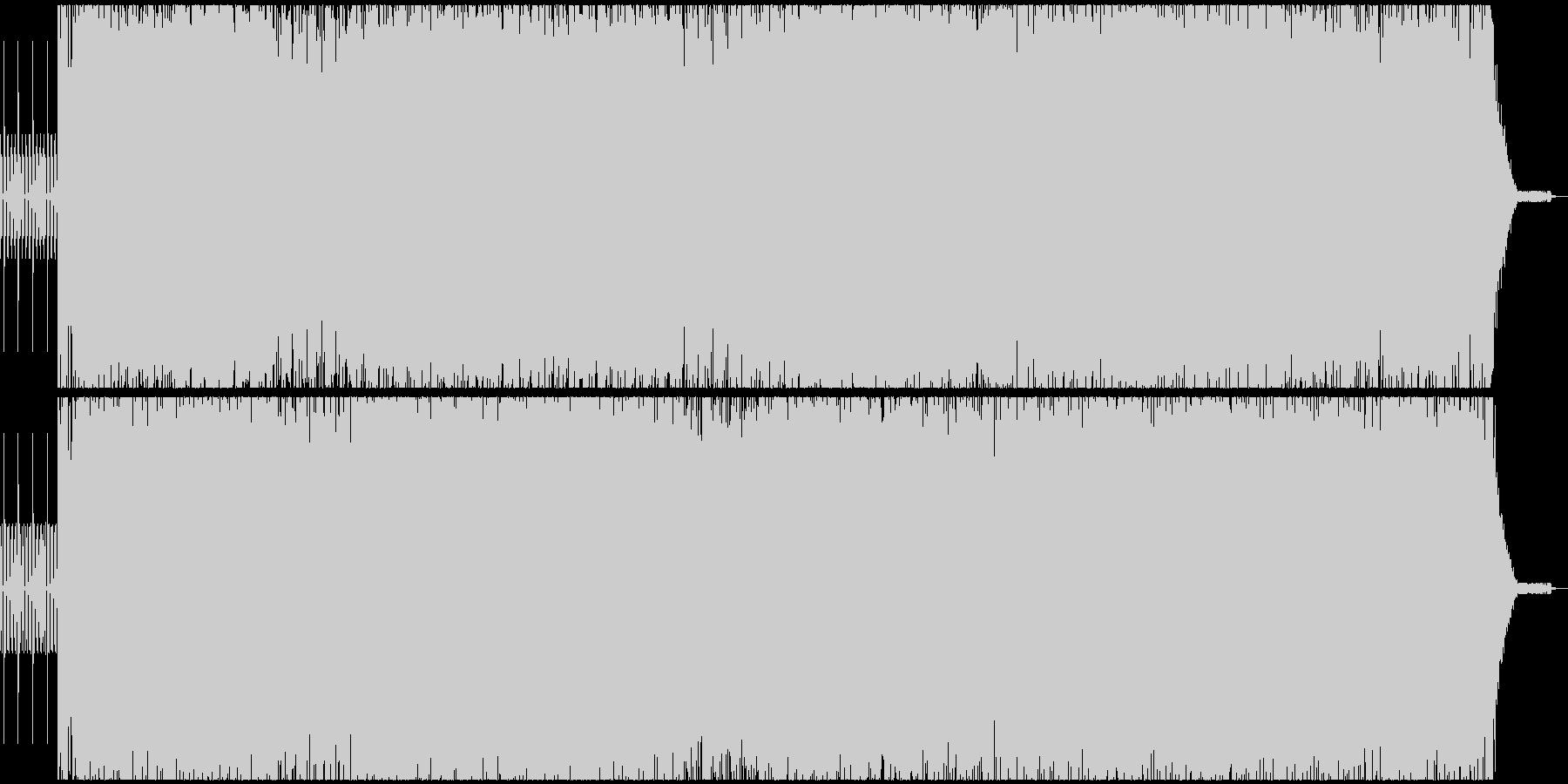 疾走感アシッドベーステクノサウンドEDMの未再生の波形
