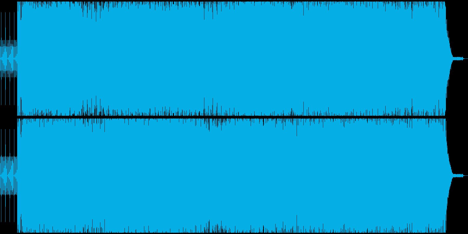 疾走感アシッドベーステクノサウンドEDMの再生済みの波形