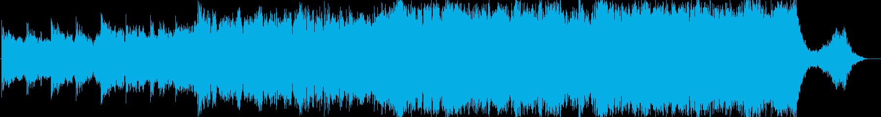 壮大な雰囲気のエピック音楽の再生済みの波形
