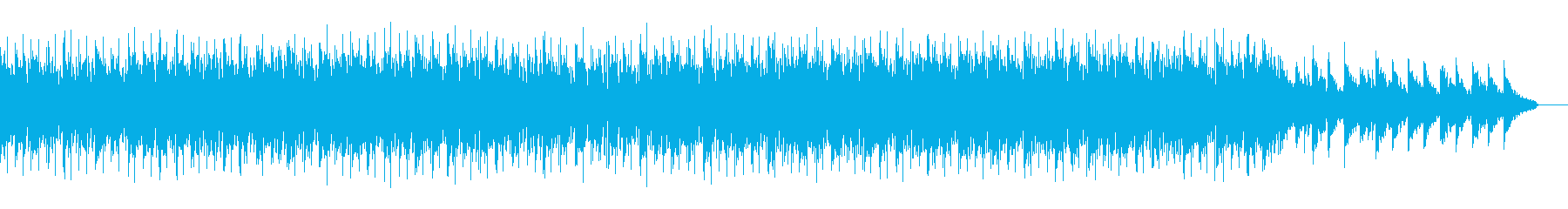 夏の終わりの海岸のイメージのチルアウト曲の再生済みの波形
