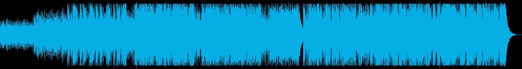 テンポの良いエレクトロポップソングの再生済みの波形