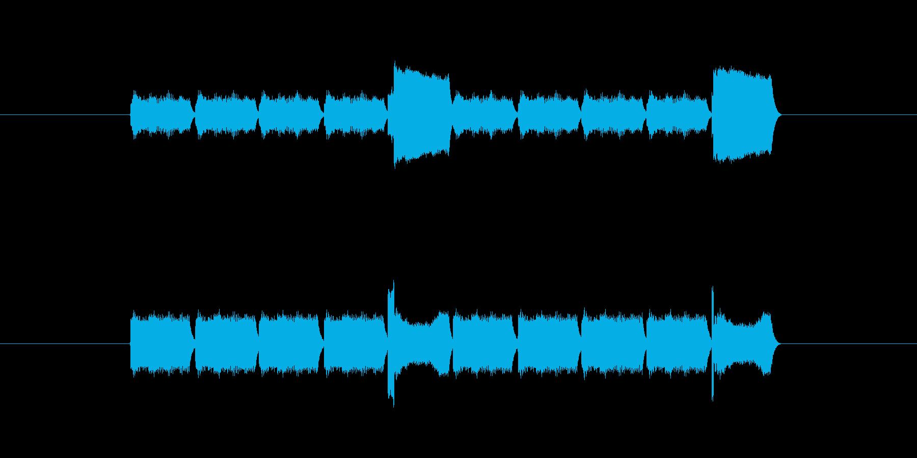 「10」を表す音のカウンターですの再生済みの波形