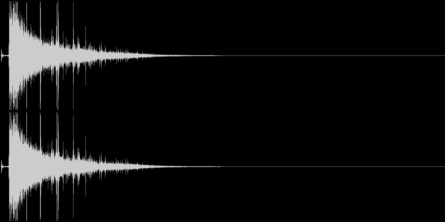 パズルが弾ける音・破裂・消滅・パーンッ2の未再生の波形
