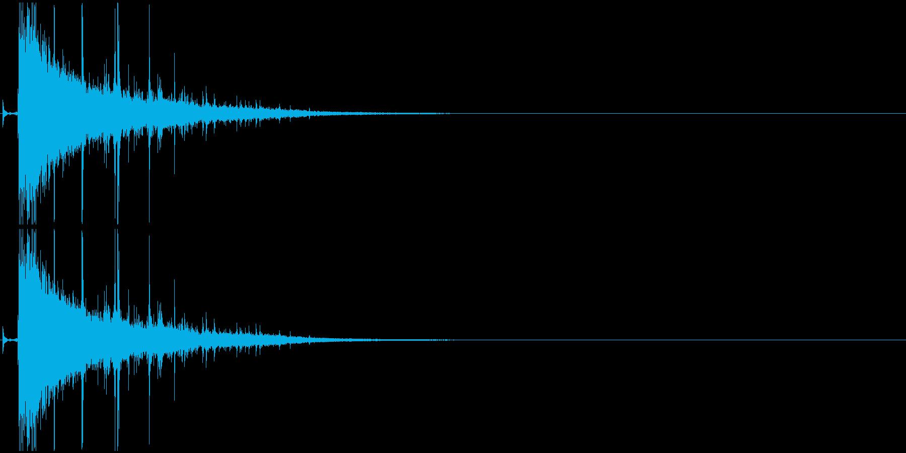 パズルが弾ける音・破裂・消滅・パーンッ2の再生済みの波形