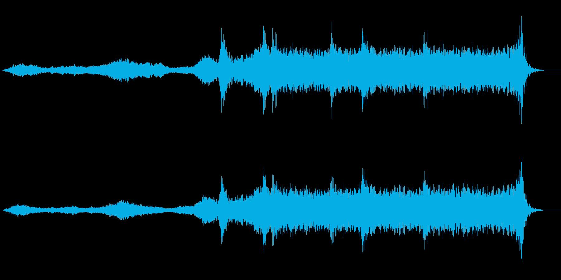 事件現場や潜入中に合いそうなBGMの再生済みの波形