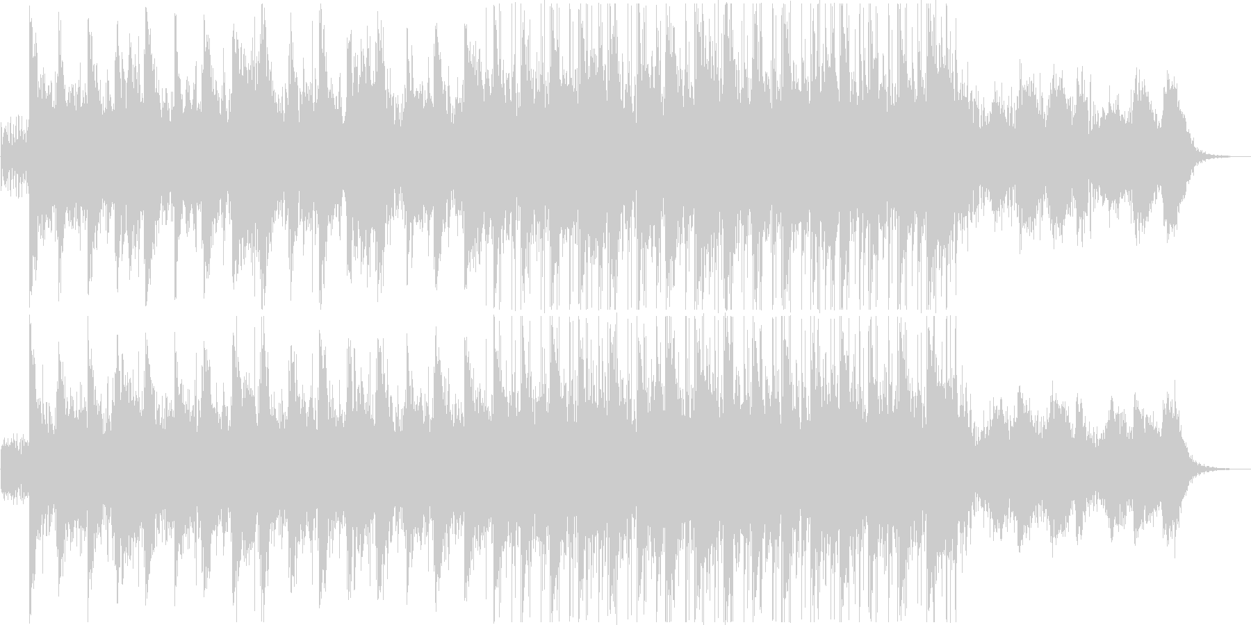 Today's Menuの未再生の波形