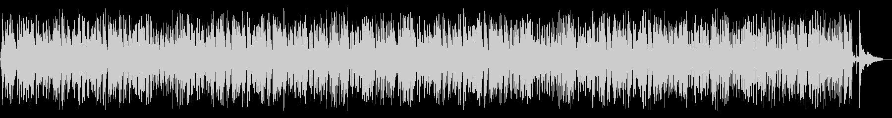 ジャジーで可愛らしい3拍子ポップスBGMの未再生の波形