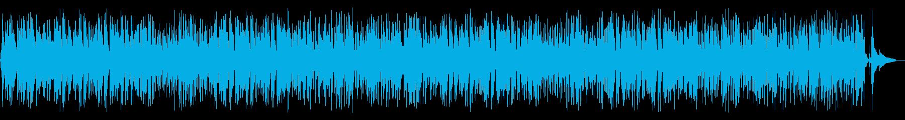 ジャジーで可愛らしい3拍子ポップスBGMの再生済みの波形