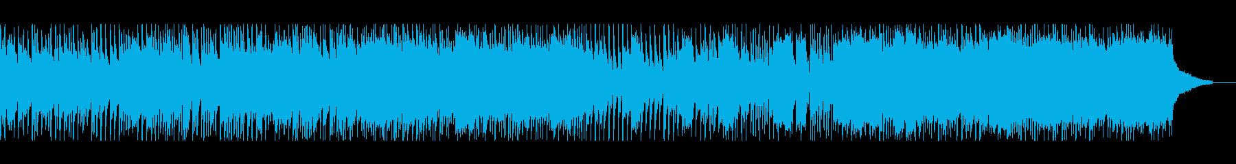 ヴィオラソロが前向きで明るいポップの再生済みの波形