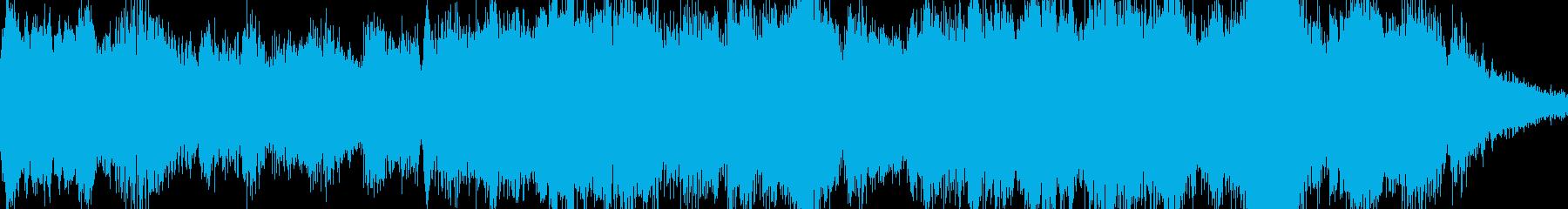 戦闘系に合う緊張感のあるオーケストラの再生済みの波形