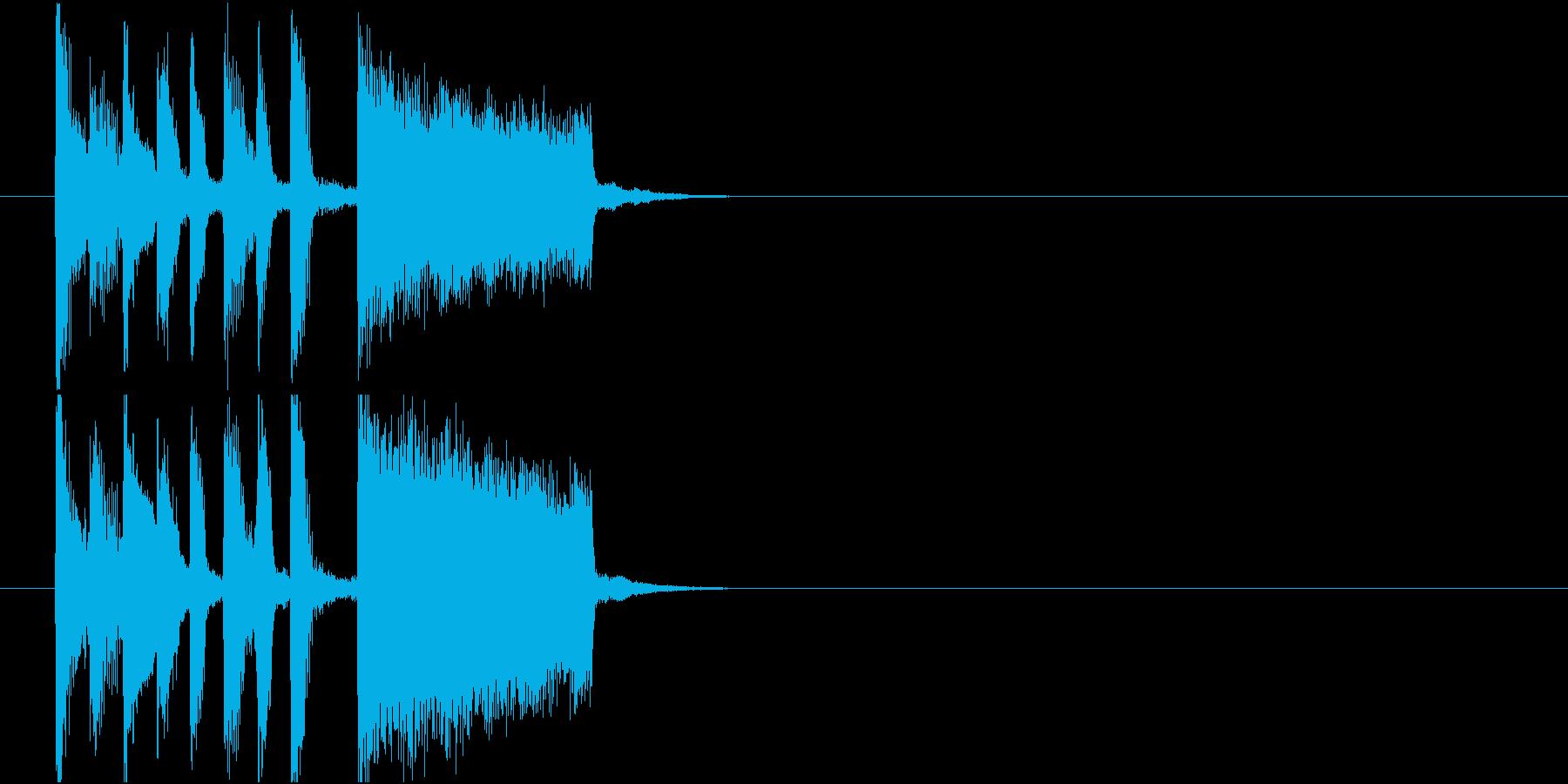 楽しく軽快でわくわくするポップジングルの再生済みの波形