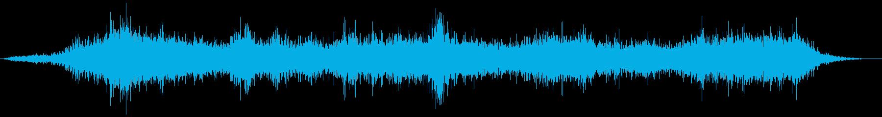 荒れた波と風の音の再生済みの波形