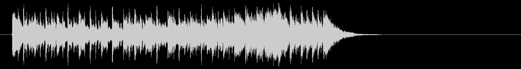 シュプールを描くポップ(Bメロ)の未再生の波形