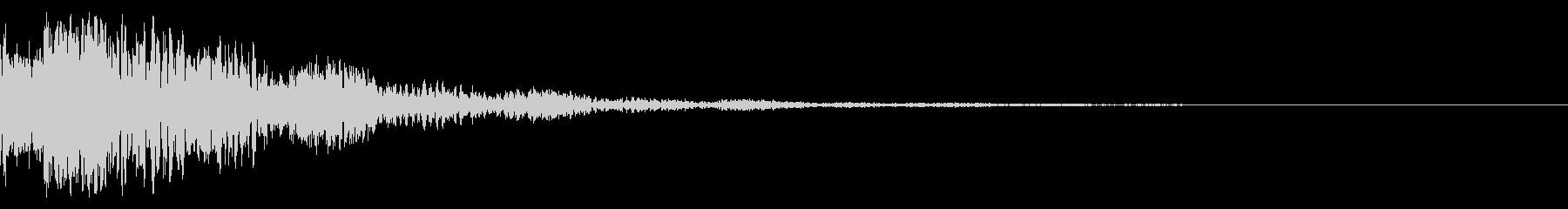 ドドン!(迫力ある太鼓と拍子木の音)02の未再生の波形