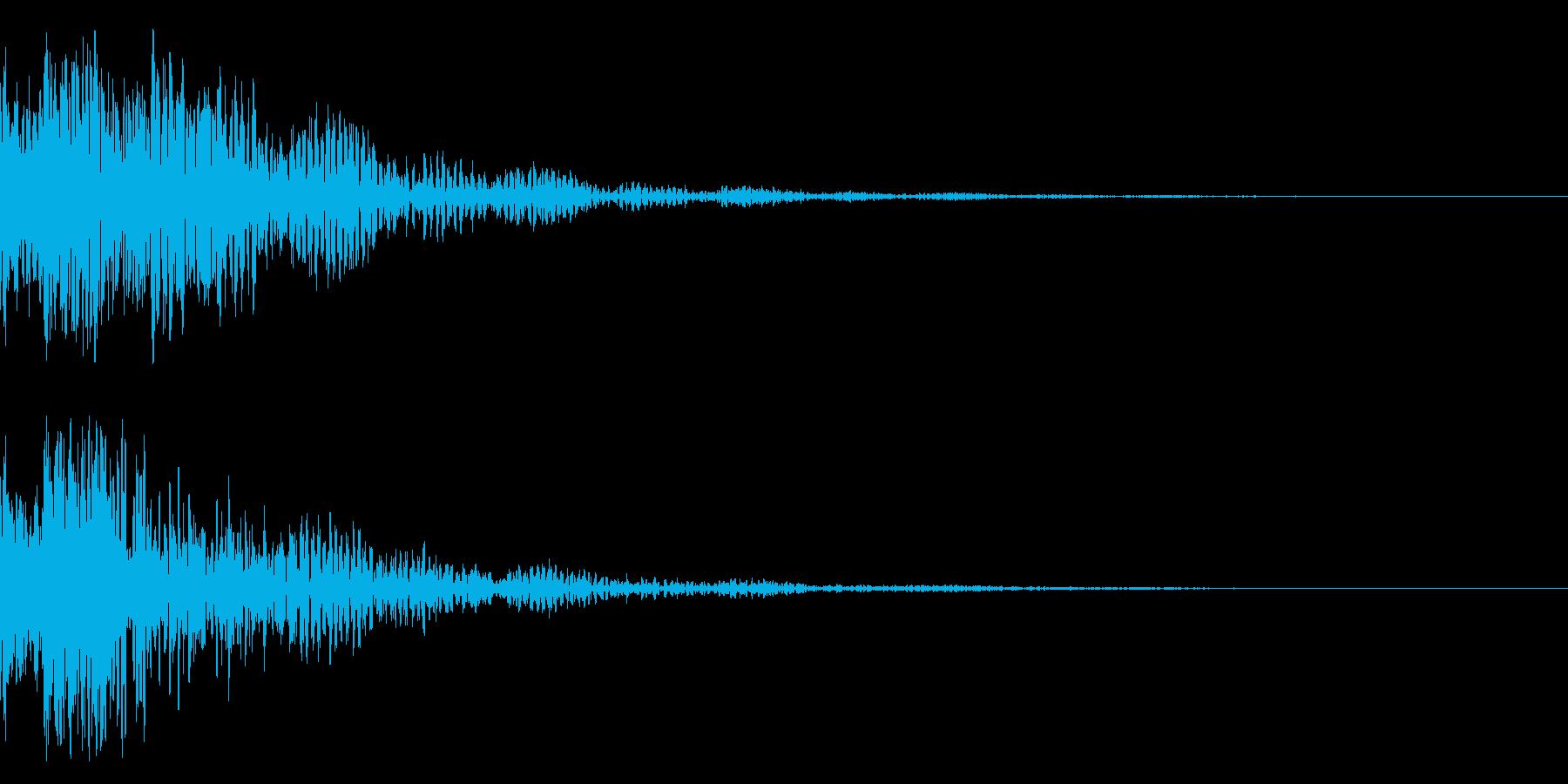 ドドン!(迫力ある太鼓と拍子木の音)02の再生済みの波形