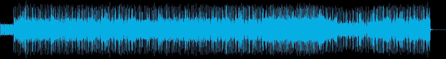 かっこいいファンクロックBGMの再生済みの波形