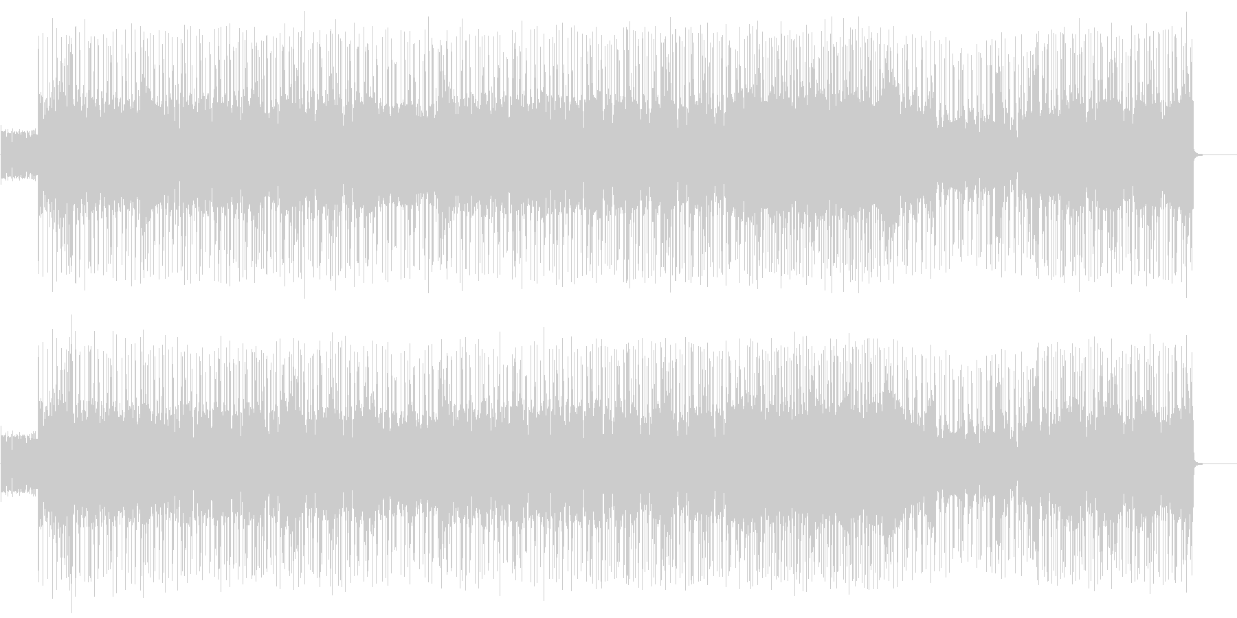 かっこいいファンクロックBGMの未再生の波形