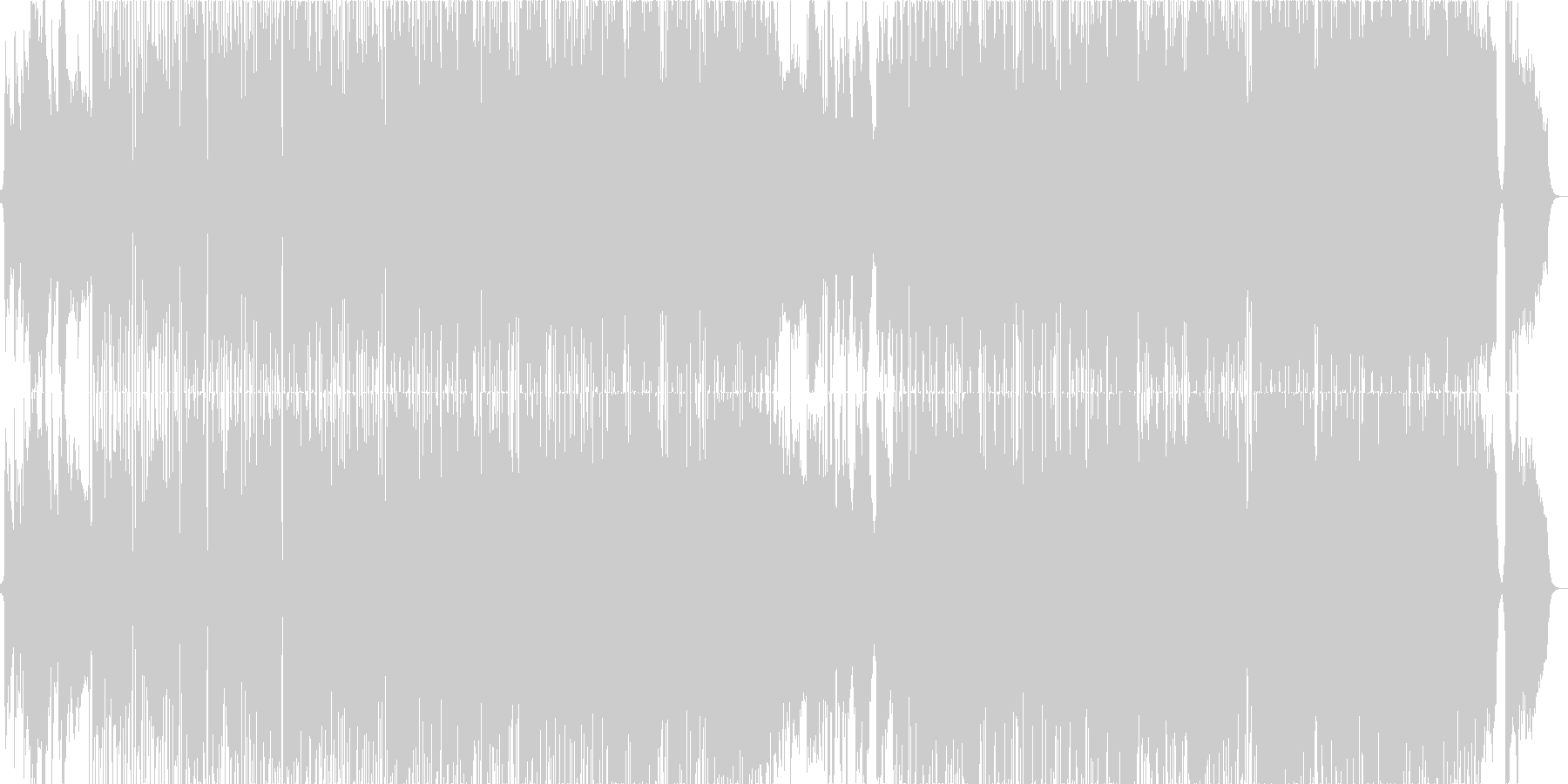 Skyscraperの未再生の波形