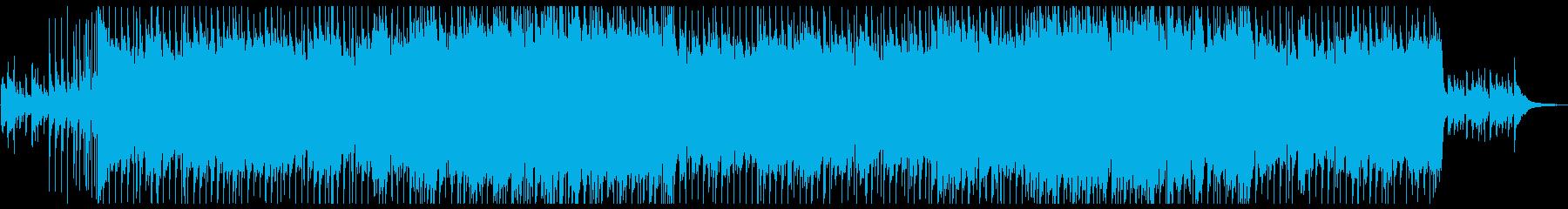 エレキギターのゆったりと寂しげなロックの再生済みの波形
