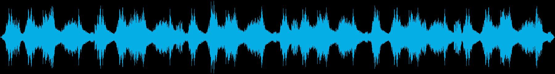シリアス・緊迫・洞窟・環境音の再生済みの波形