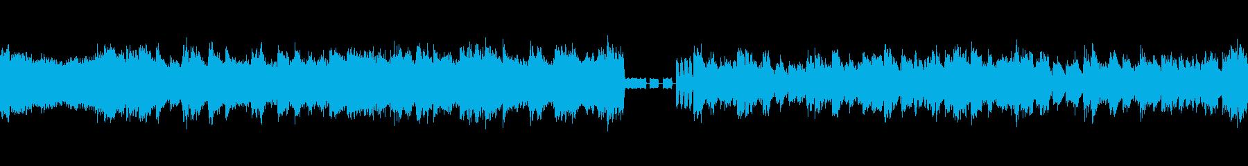 近未来的を想起させるサイバーな曲の再生済みの波形
