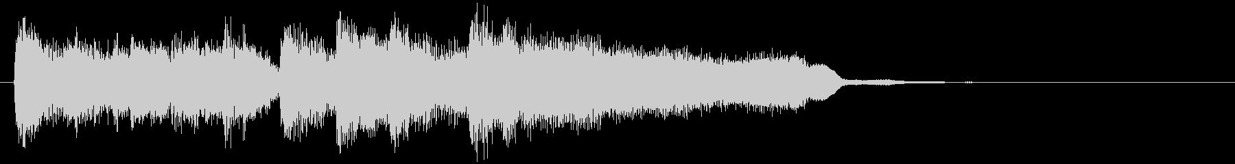 軽快な生演奏フルートの6秒ジャズジングルの未再生の波形
