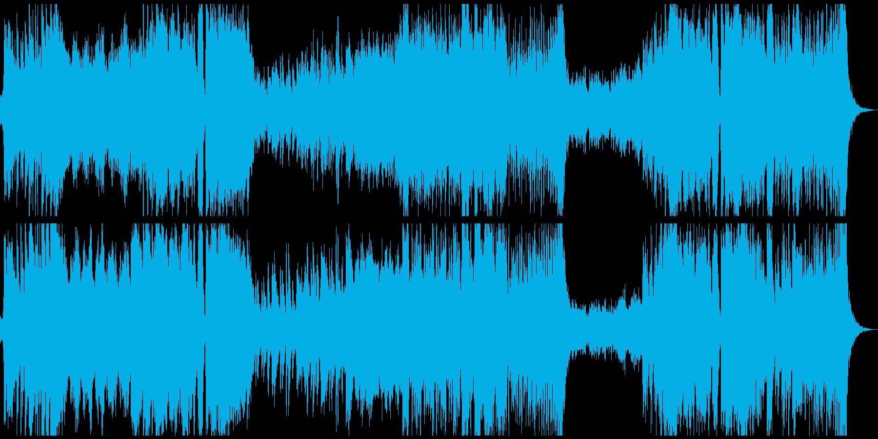 アニメやRPGオープニング ファンタジーの再生済みの波形