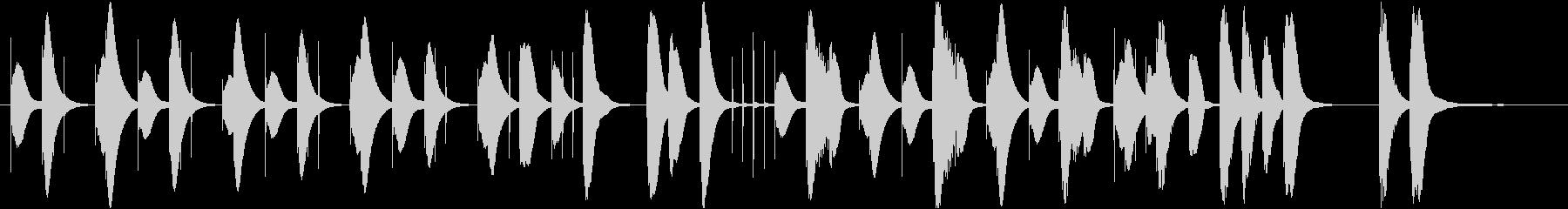 可愛らしいまったりした曲です。の未再生の波形